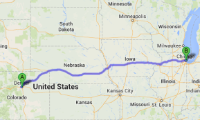 car transport by state - Denver to Chicago